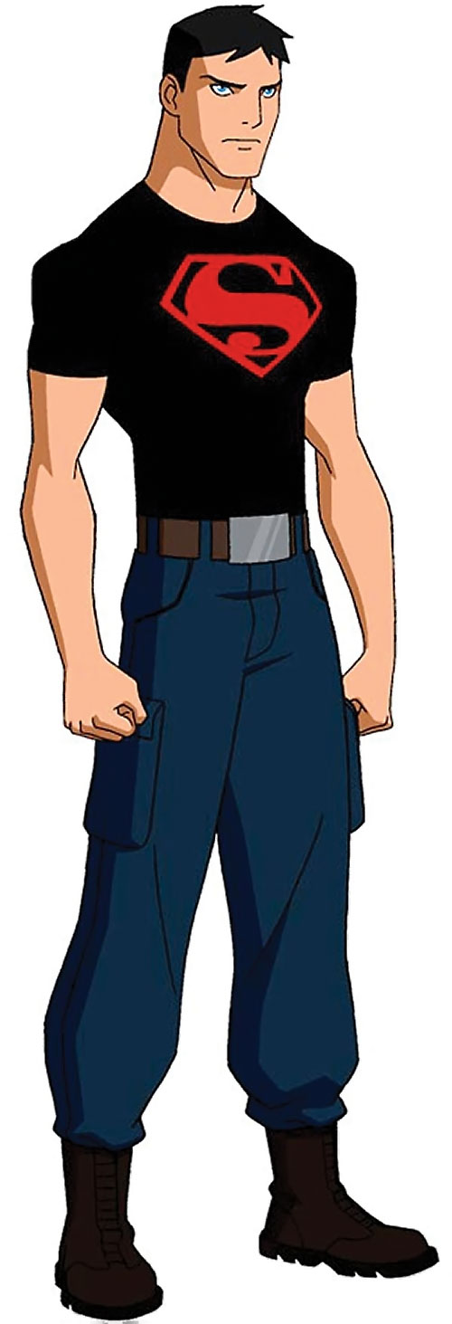 Superboy (Young Justice cartoon TV series) with brown boots