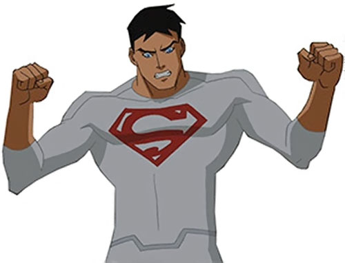 Superboy (Young Justice cartoon TV series) in a white jumpsuit