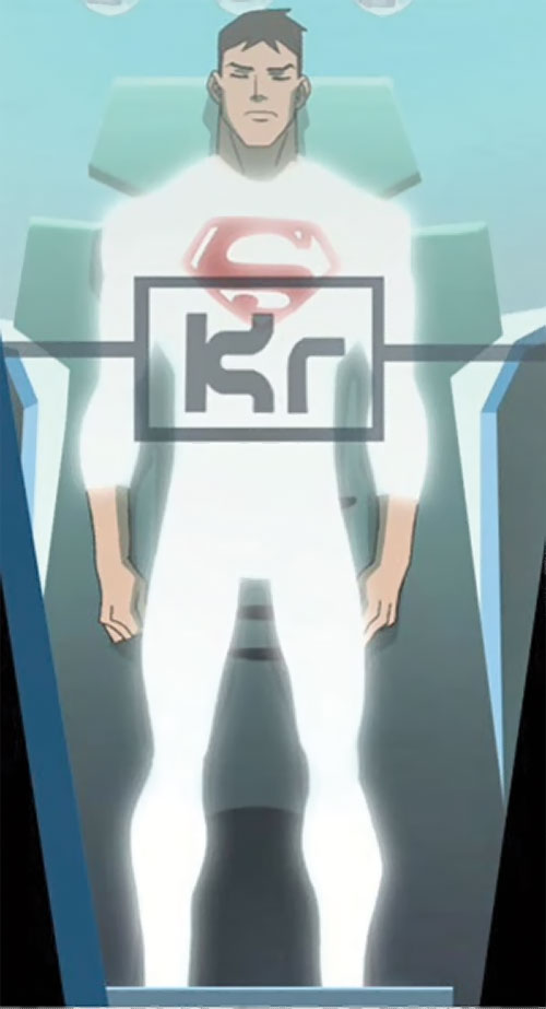 Superboy (Young Justice cartoon TV series) in a Cadmus sarcophagus