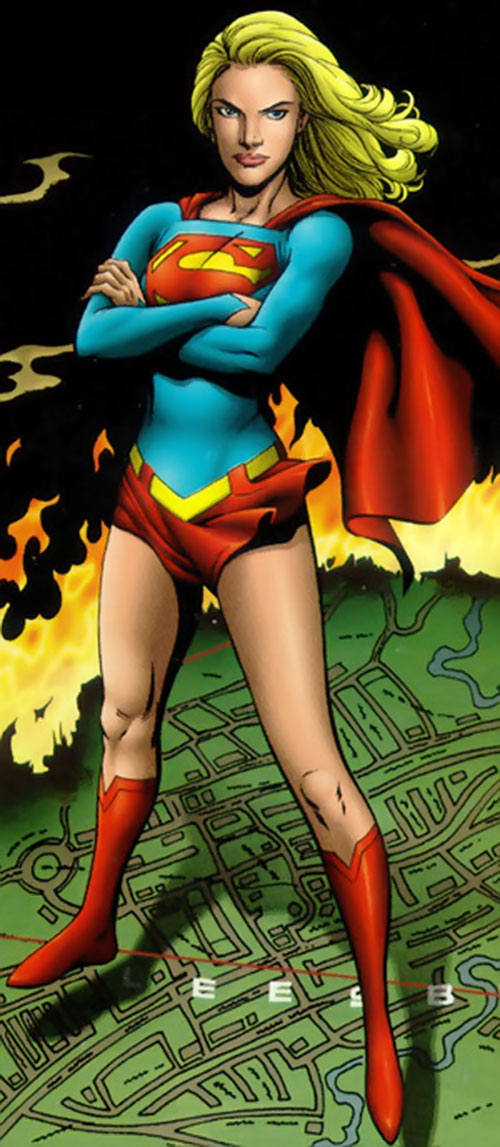 Supergirl (Peter David version) (DC Comics) with arms crossed