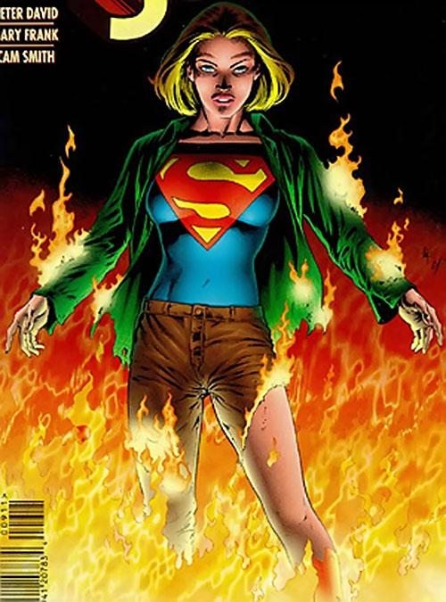 Supergirl (Peter David version) (DC Comics) on fire