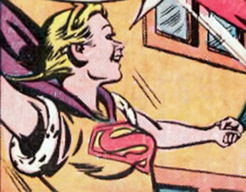 Supergirl (Queen Lucy of Borgonia) (DC Comics) smiling