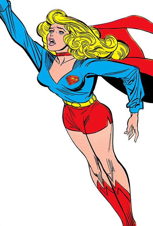 Supergirl (Linda Danvers) during the 1980s (DC Comics)