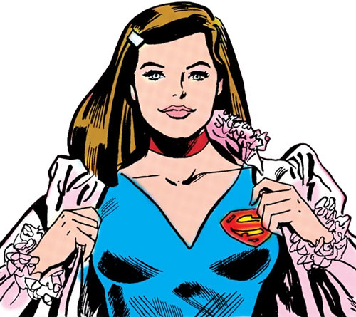 Supergirl (Linda Danvers) (DC Comics) changing into her costume