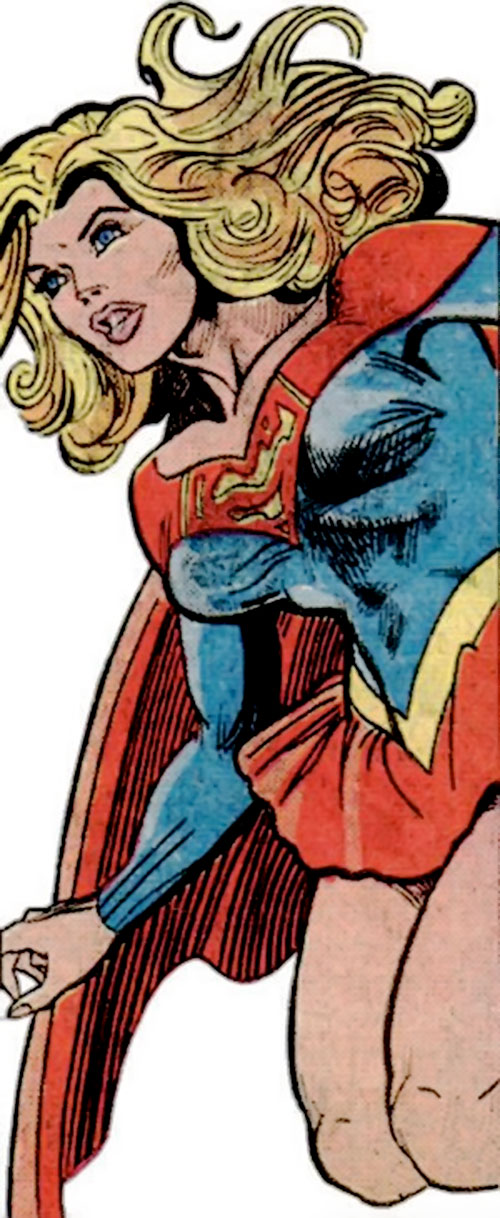 Supergirl (Linda Danvers) (DC Comics) hovering by Infantino