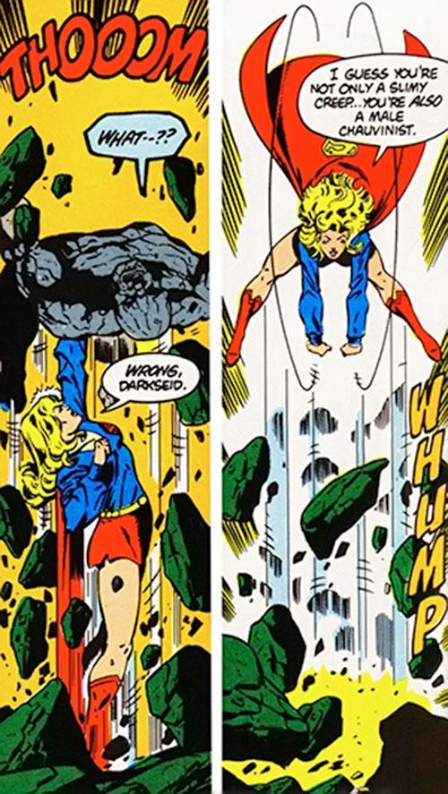 Supergirl (Linda Danvers) (DC Comics) vs. Darkseid