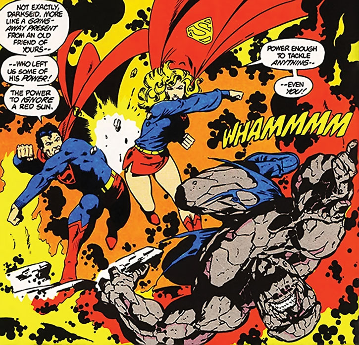 Superman and Supergirl vs. Darkseid