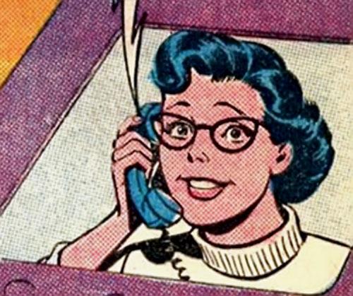 Supermaid (Superman's daughter) (DC Comics) face closeup