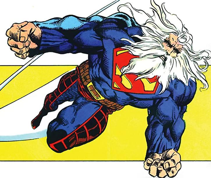 Superman (Kamandi at Earth's End aged, bearded version)