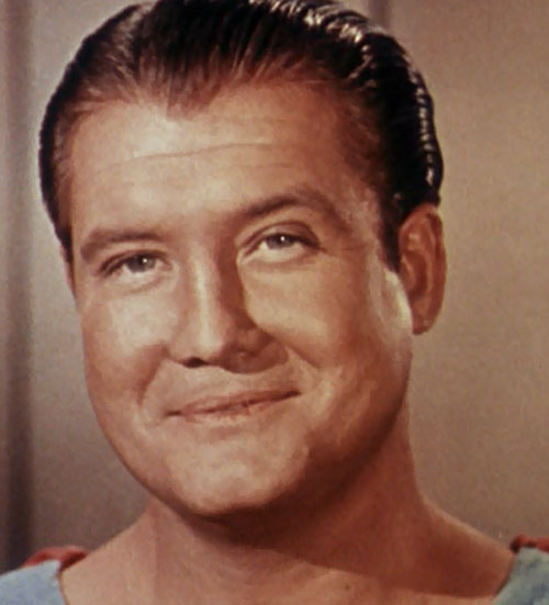 Superman (George Reeves in Adventures of Superman) color face closeup