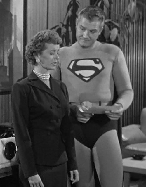 Superman (George Reeves in Adventures of Superman) with Lois Lane