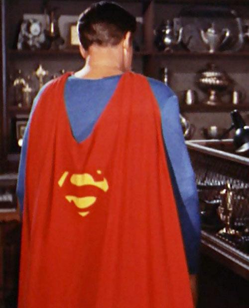Superman (George Reeves in Adventures of Superman) - back view
