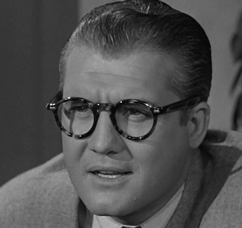 Superman (George Reeves in Adventures of Superman) - Clark Kent face closeup