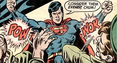 Superman Jr. (DC Comics Super-Sons) knocks out 2 thugs