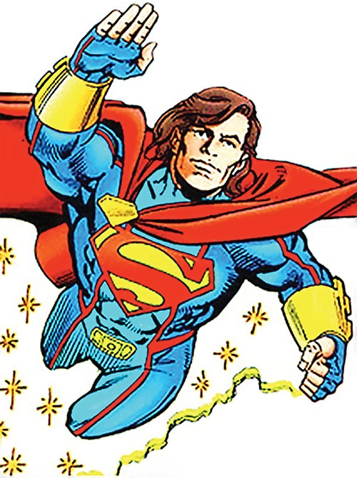 Superman (Kaleb from Legends of the Dead Earth) (DC Comics) flying