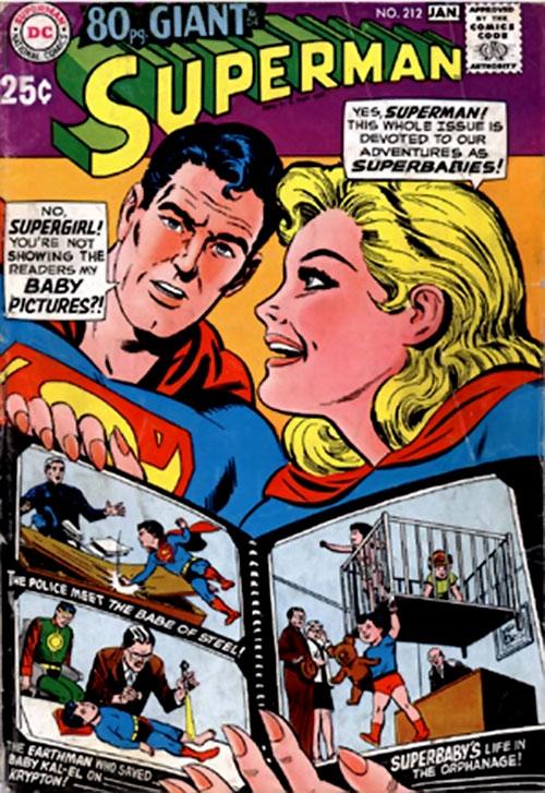 Pre-Crisis Superman (DC Comics) Superbaby stories
