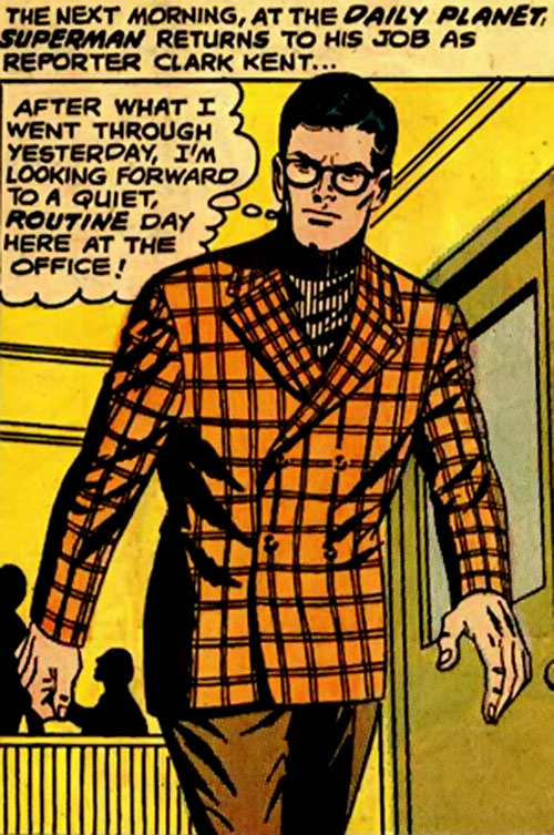 Pre-Crisis Superman (DC Comics) - Clark Kent in an orange vest