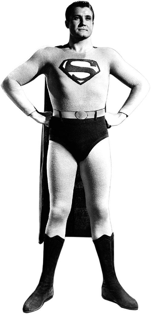 George Reeves' Superman, TV series, iconic pose