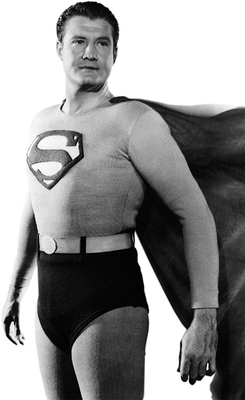 Superman George Reeves heroic pose cool