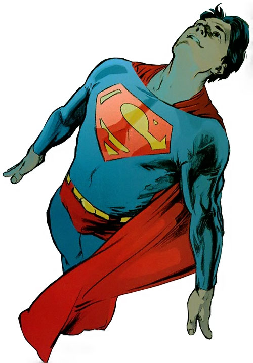 Superman (DC Comics) (Busiek Secret Identity version) flying in costume