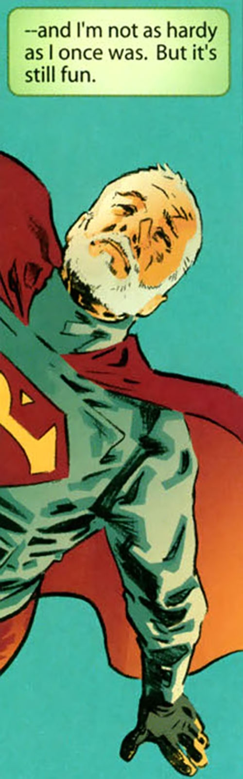 Superman (DC Comics) (Busiek Secret Identity version) as a bearded older man
