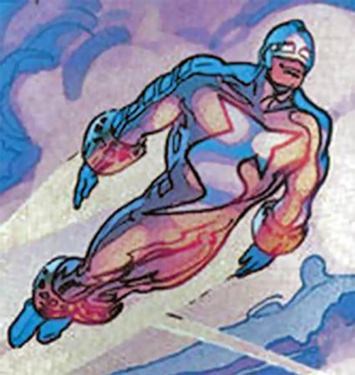 Supersonic (Astro City comics) in flight