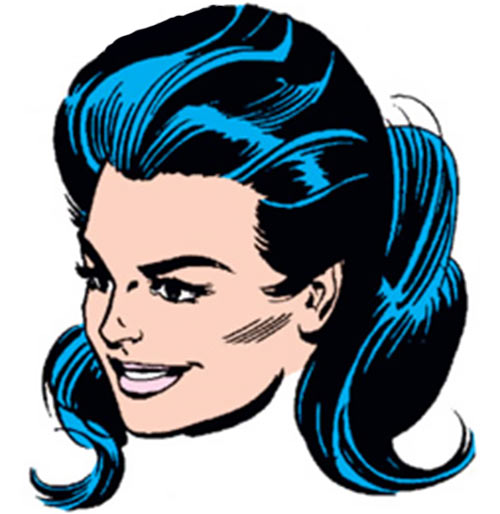 Superwoman (DC Comics) (1964 Crime Syndicate) face closeup