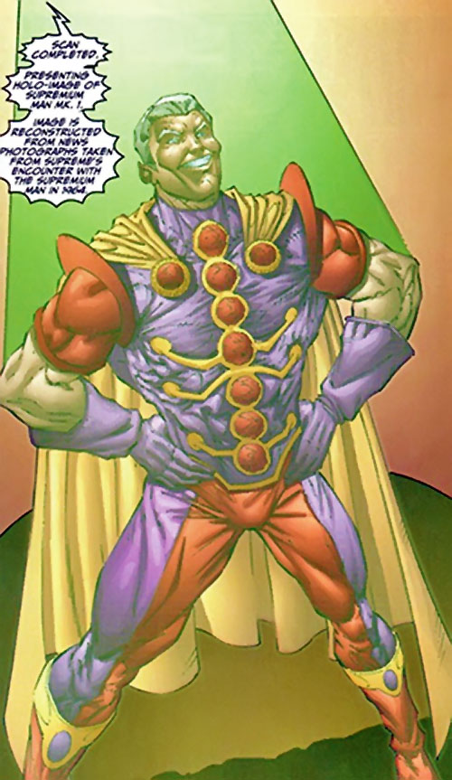 Supremium Man (Supreme enemy) (Image Comics Moore) holographic image