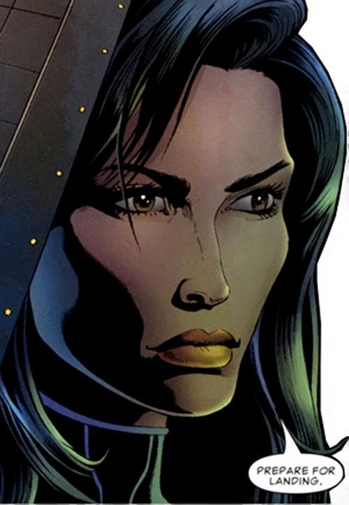 Suspiria (Punisher character) (Marvel Comics) face closeup