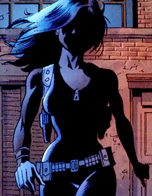 Suspiria (Punisher character) (Marvel Comics) in the shadows