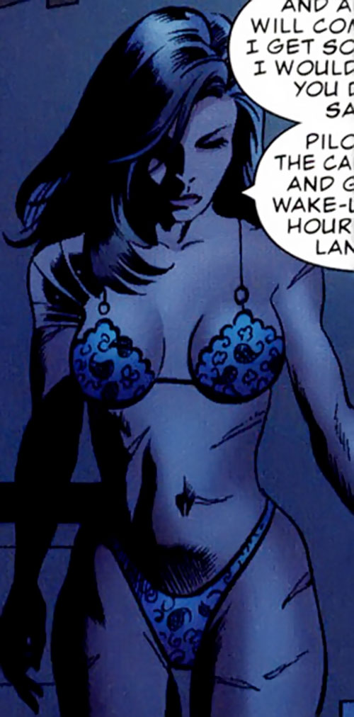 Suspiria (Punisher character) (Marvel Comics) in lingerie