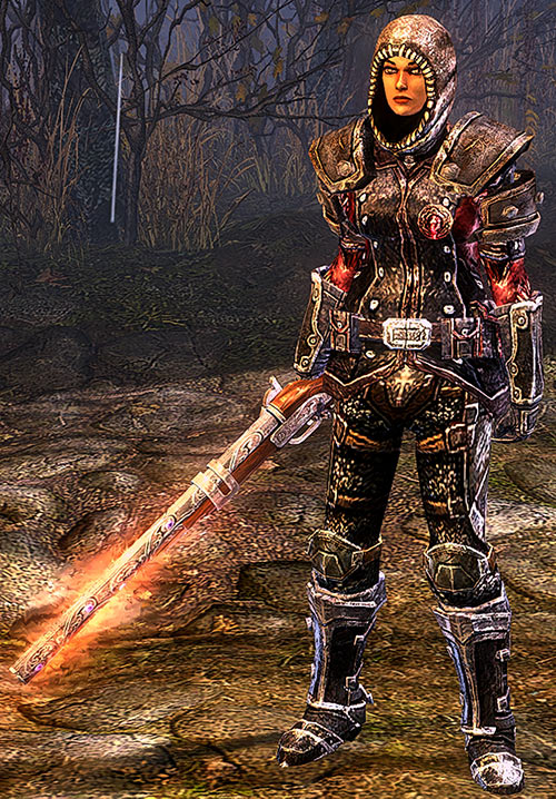 Grim Dawn - Svet with armour and burning gun