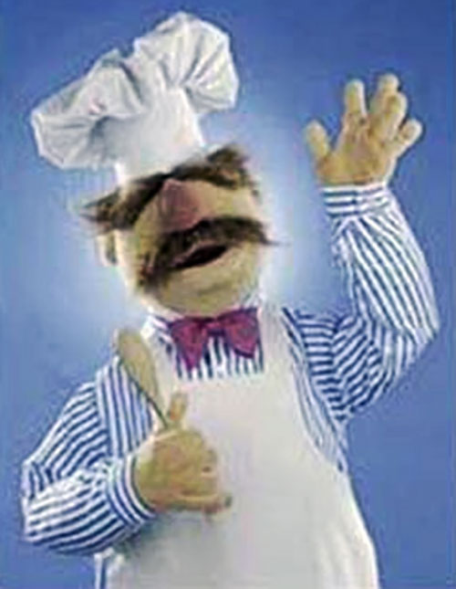 The Swedish Chef (Muppet Show) waves hello