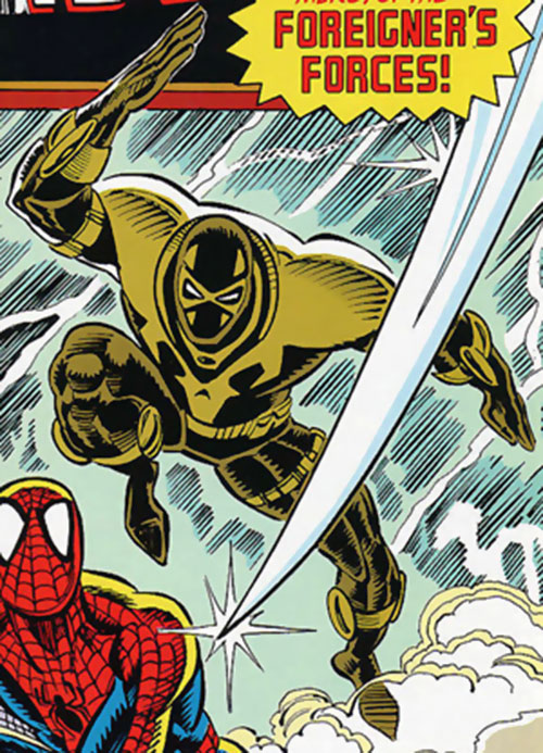Swift of the Foreigner Death Squad (Marvel Comics) vs. Spider-Man