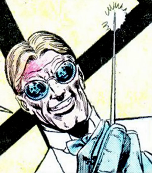 The Swiss (Richard Dragon enemy) (DC Comics) with a poisoned needle