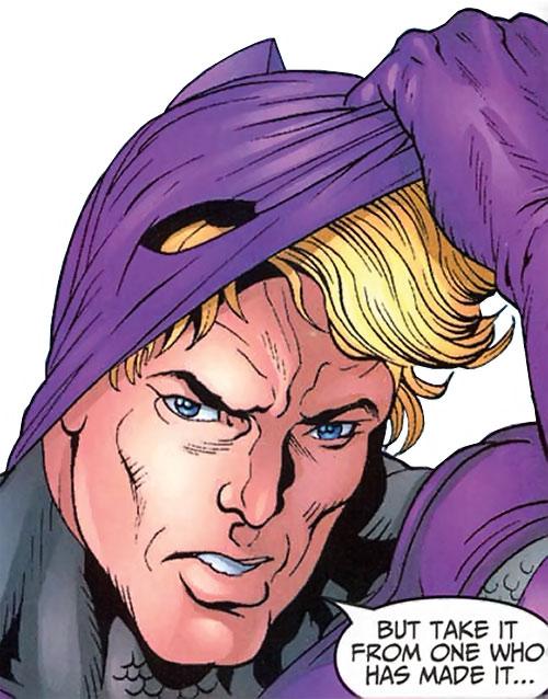 Swordsman of the Thunderbolts (Andreas Strucker) (Marvel Comics) unmasking