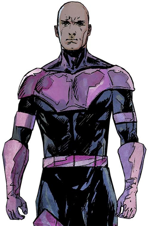 Swordsman of the Thunderbolts (Andreas Strucker) (Marvel Comics) with shaved head