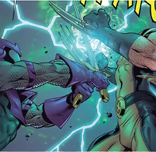 Swordsman of the Thunderbolts (Andreas Strucker) (Marvel Comics) vs. Wolverine