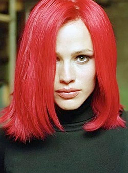 Sydney Bristow (Jennifer Garner in Alias) with bright red hair