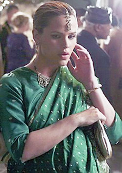 Sydney Bristow (Jennifer Garner in Alias) disguised as an Indian lass