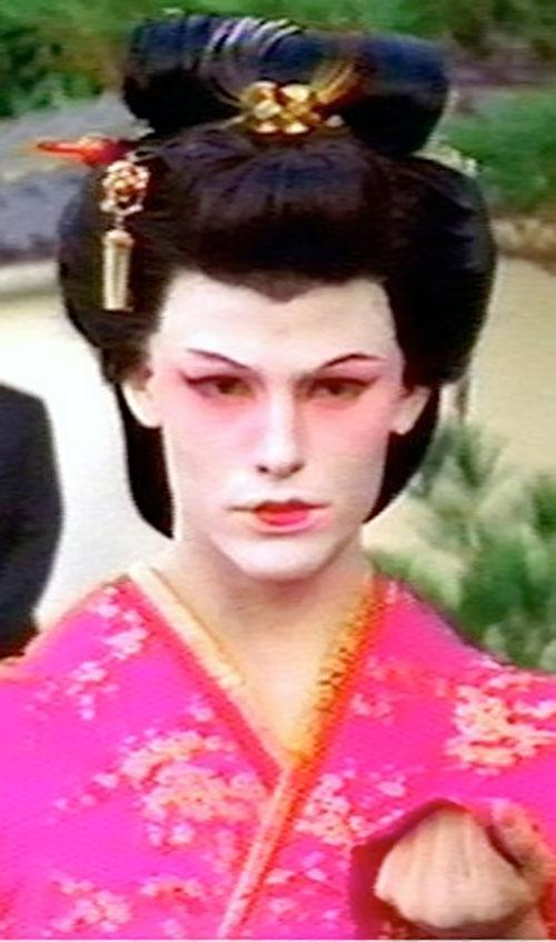 Sydney Bristow (Jennifer Garner in Alias) disguised as a geisha