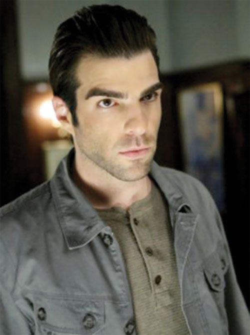 Sylar (Zachary Quinto in NBC's Heroes) with a light gray vest