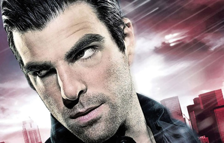 Sylar (Zachary Quinto) face closeup from a poster