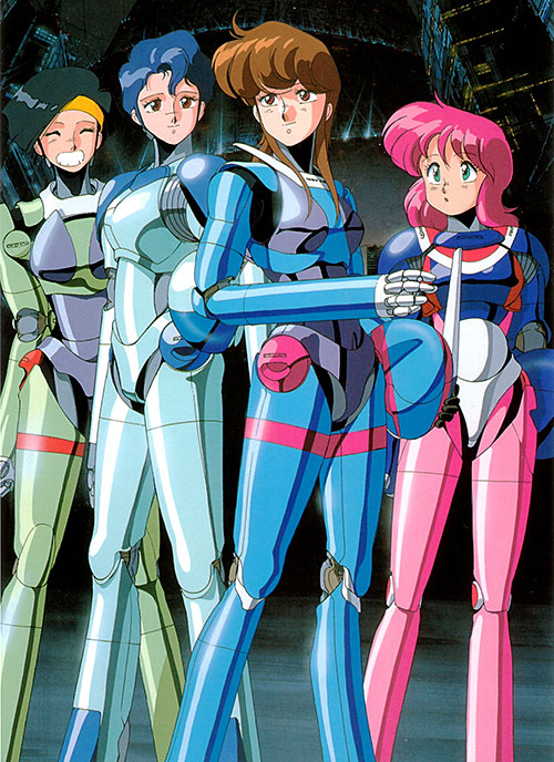 The Knight Sabers (Bubblegum Crisis) suited up