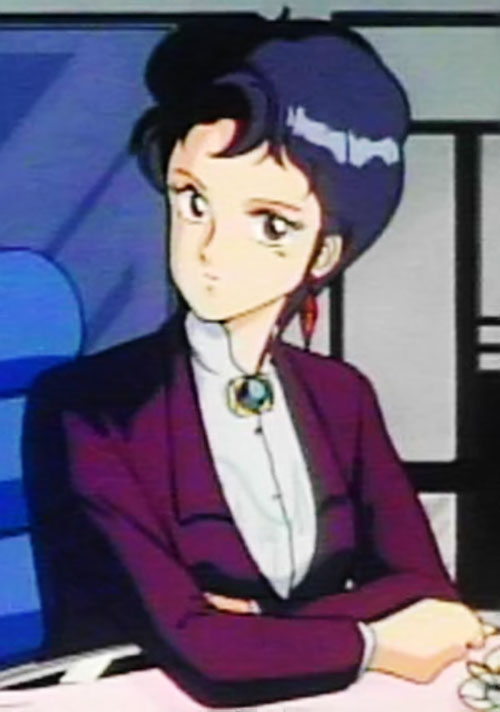 Sylia Stingray (Bubblegum Crisis) in a business suit