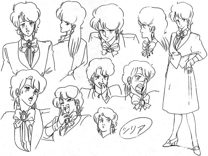 Sylia Stingray character design model sheet