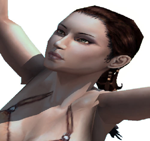 Titan Quest - Female Player Character - Sylphid - 3D model face closeup