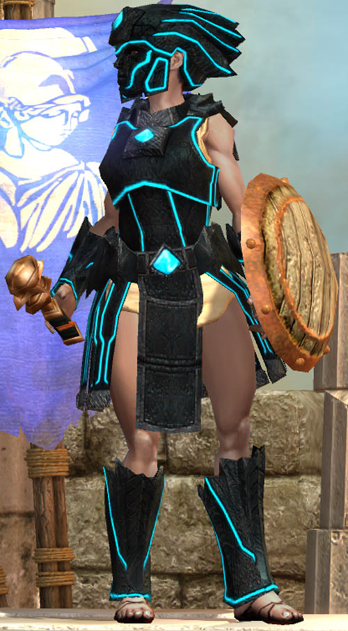 Titan Quest - Female Player Character - Sylphid - Obsidian set