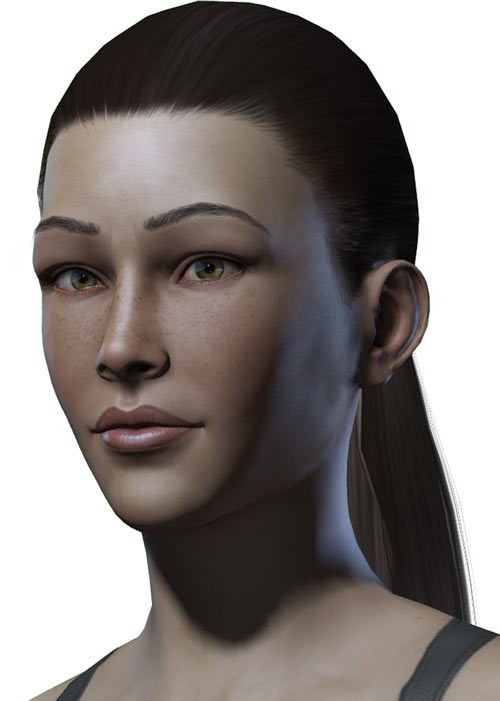 Titan Quest - Female Player Character - Sylphid - portrait closeup