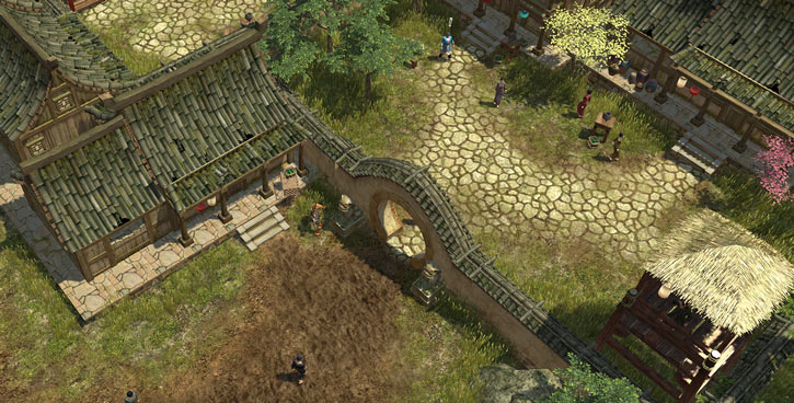 Titan Quest landscape screenshot - Chinese village